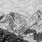 Fingerprint - Child on the rock - Black ink by nicolasjolly