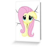 Fluttershy is stuck Greeting Card