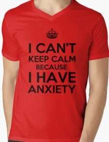 Keep Anxious Mens V-Neck T-Shirt