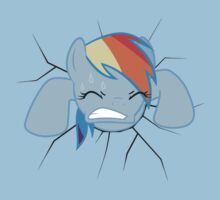 Rainbow Dash stuck Baby Tee