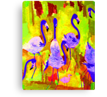 Flamingos 1 Digital Canvas Print