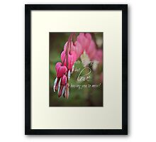 Missing you Card Framed Print