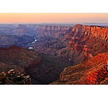 Sunset on the Grand Canyon from Navajo Point Photographic Print