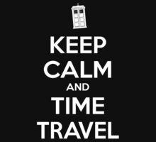 Keep Calm and Time Travel Kids Tee