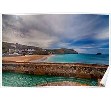 Portreath Harbour and Beach Poster