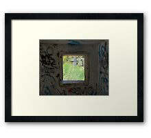 Looking through the window. Framed Print