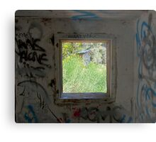 Looking through the window. Metal Print