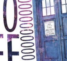 TARDIS T-SHIRT B Sticker