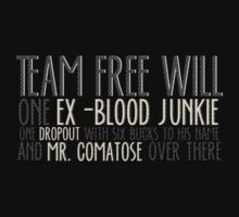 TEAM FREE WILL T-SHIRT B by HizaChu