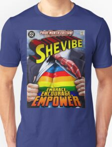 SheVibe Super Human Gay Pride Cover Art T-Shirt