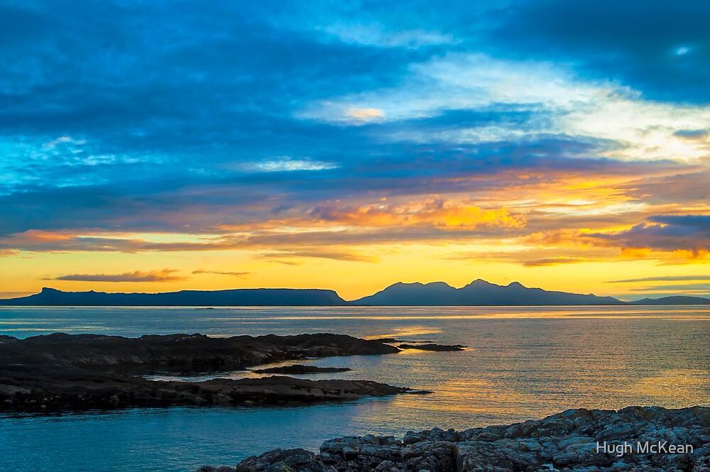 Sunset, Inner Hebrides, Eig, Rum, by Hugh McKean