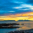 Sunset, Inner Hebrides, Eig, Rum, by Hugh McKean