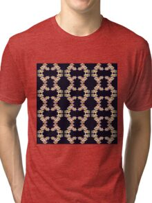 Pattern of Plumeria Blossoms Tri-blend T-Shirt
