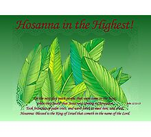 Hosanna in the Highest! Photographic Print