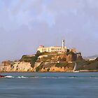 San Francisco Alcatraz from peir by twhiteart