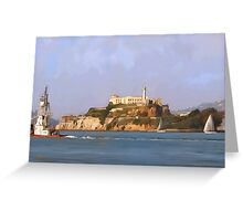San Francisco Alcatraz from peir Greeting Card