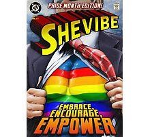 SheVibe Super Human Gay Pride Cover Art Photographic Print
