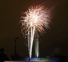 """Fireworks at """"Celebration At The Station"""" by David Shayani"""