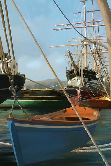 San Francisco Boats from peir. by twhiteart