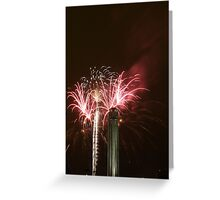 "Fireworks at ""Celebration At The Station"" Greeting Card"