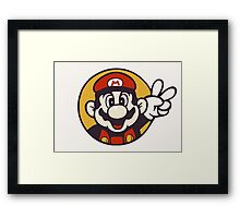 Mario Peace Framed Print