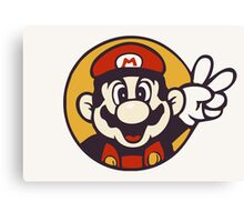 Mario Peace Canvas Print