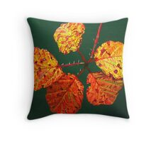 Autumnal Briar Leaves Throw Pillow
