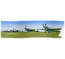 Flightline Panorama - Duxford 26.05.2013 Poster