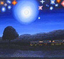 Imaginary Starry Night by eastcorkpainter