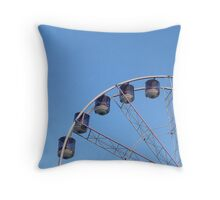 Blue Ferris Wheel Throw Pillow