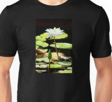 White Water Lily Standing Up Unisex T-Shirt