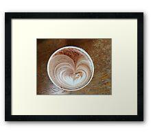 Hot Chocolart Framed Print