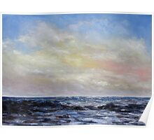 Winter Sun II West Coast Seascape Poster