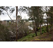 Redbourneberry Bridge over Hunter River, NSW Australia Photographic Print