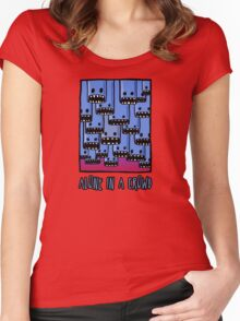 Alone in a crowd Women's Fitted Scoop T-Shirt