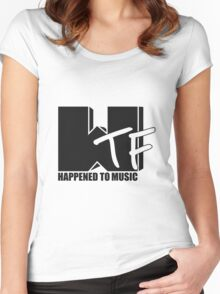 WTF Happened? solid Women's Fitted Scoop T-Shirt