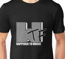 WTF Happened? white checker Unisex T-Shirt