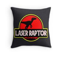 Laser Raptor Throw Pillow