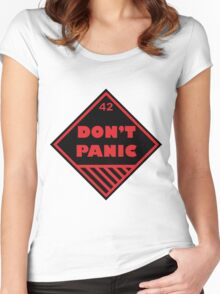 Don't Panic Shipping Placard Women's Fitted Scoop T-Shirt