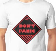 Don't Panic Shipping Placard Unisex T-Shirt