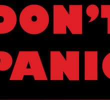 Don't Panic Shipping Placard Sticker