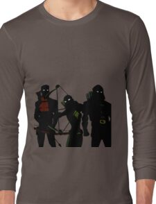The Arrowfam in Young Justice Long Sleeve T-Shirt