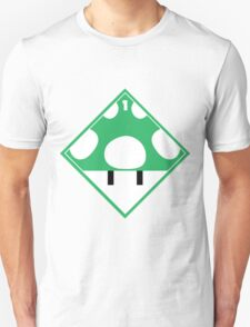 1up Mushroom Shipping Placard T-Shirt