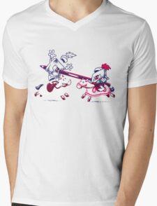 Knostalgic Knights Mens V-Neck T-Shirt