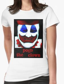 John Wayne Gacy. Hungry. Womens Fitted T-Shirt