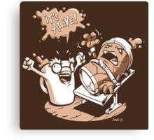Dr. Caffeinstein's Monster Canvas Print