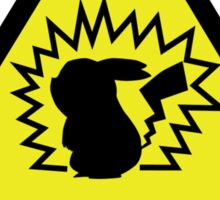 Pikachu Warning Placard Sticker