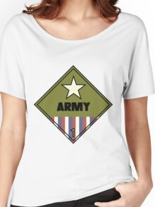 WW2 American Army Shipping Placard Women's Relaxed Fit T-Shirt