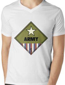 WW2 American Army Shipping Placard Mens V-Neck T-Shirt