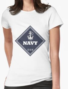 WW2 American Navy Shipping Placard Womens Fitted T-Shirt